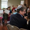 5/22/16 with story--  Student's of the Jospeh C. Foster Religious School sing for Rabbi Alan and Meryl Alpert on Sunday in celebration of their 18 years at Congregation Agudat Achim in Leominster. Sentinel & Enterprise photo/Jeff Porter