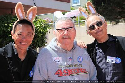 """Three Men and a Bunny"""