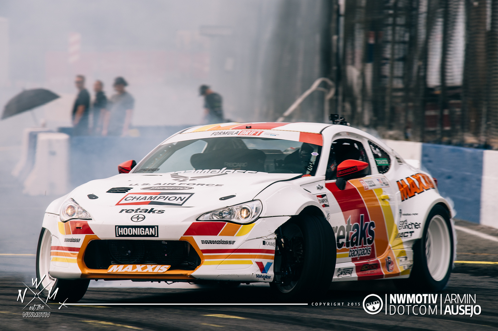 Ryan Tuerck with the steering angle