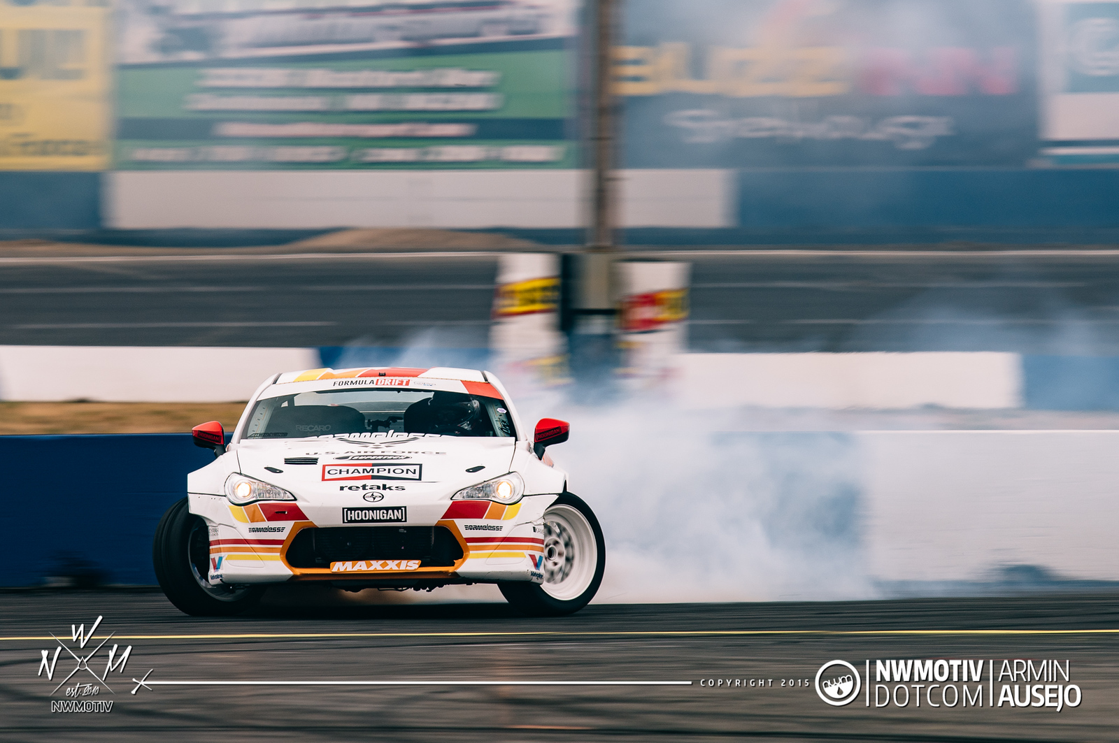 Ryan Tuerck at full lock through the power alley