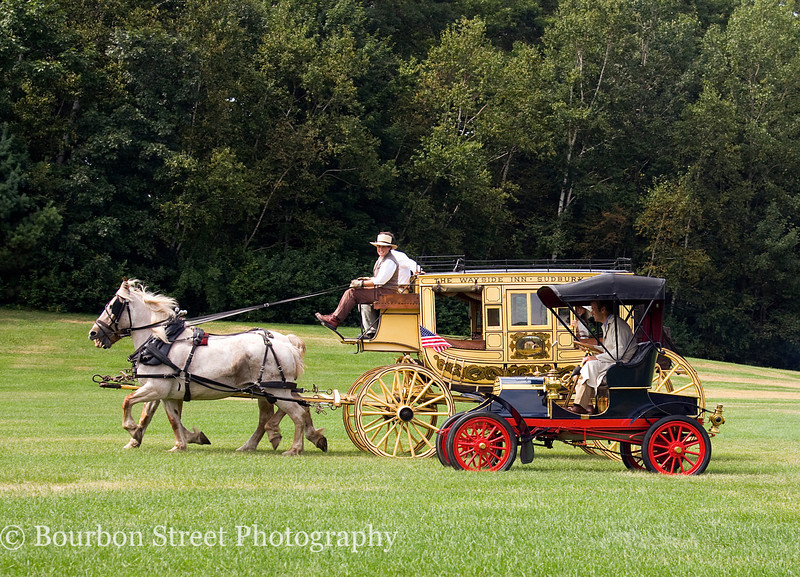1867 Concord Stage Coach vs. 1904 Franklin Type A Roadster