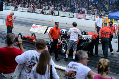 Pit crew prepping for a race at Beech Bend Raceway