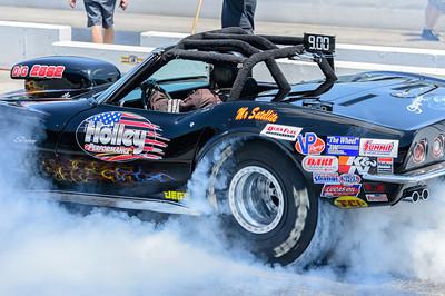 Smoky burnout at Beech Bend Raceway