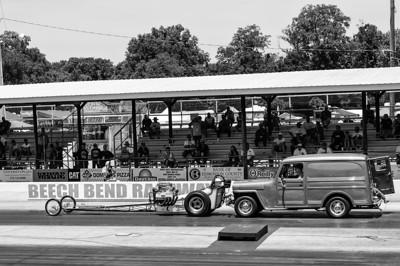 Vintage push-start at NHRA Hot Rod Reunion