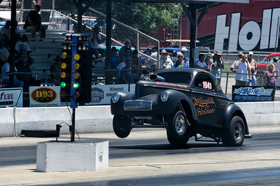 Gasser wheelstand at NHRA Hot Rod Reunion