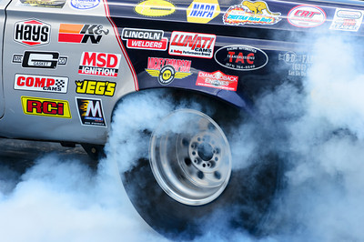 Smoky burnout at NHRA Hot Rod Reunion