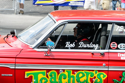 Bob Durling with Teachers Pet at NHRA Hot Rod Reunion