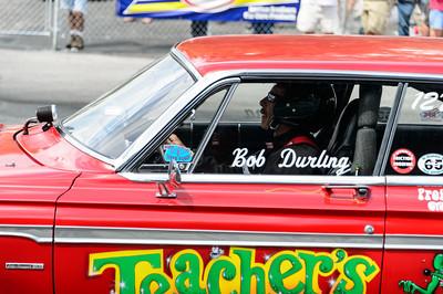 Bob Durling with Teachers Pet at NHRA Hot Rod Reunion