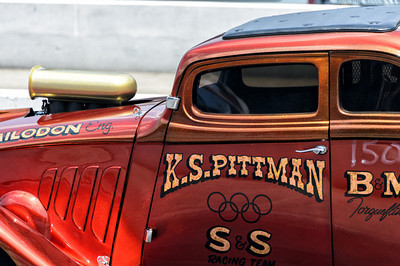 K.S. Pittman of S&S Racing Team staging at NHRA Hot Rod Reunion
