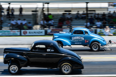 Gassers race at NHRA Hot Rod Reunion
