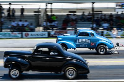 Gassers race at NHRA Hot Rod Reunion