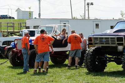 "Tech inspection at ""Hot as a Mudder"" Mud Bog"