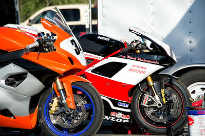 Ducatis in the pits at WERA Summit Point