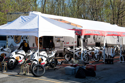 In the pits at WERA Summit Point