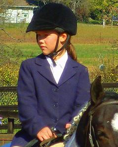 Rachel on an October Ride  2010