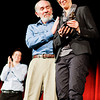 The award was presented to Maddow by Thomas Steinbeck, author and son of John Steinbeck.<br /> <br /> Photo by Jessica Shirley-Donnelly, JRSD Photography