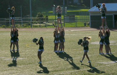 TVHS cheerleaders show their stuff at Raiderfest 2013 at Twin Valley High School Aug. 24.