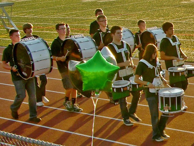The Twin Valley High School Marching Band's drumline.