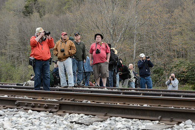 Railfans during Cass Railfan Weekend