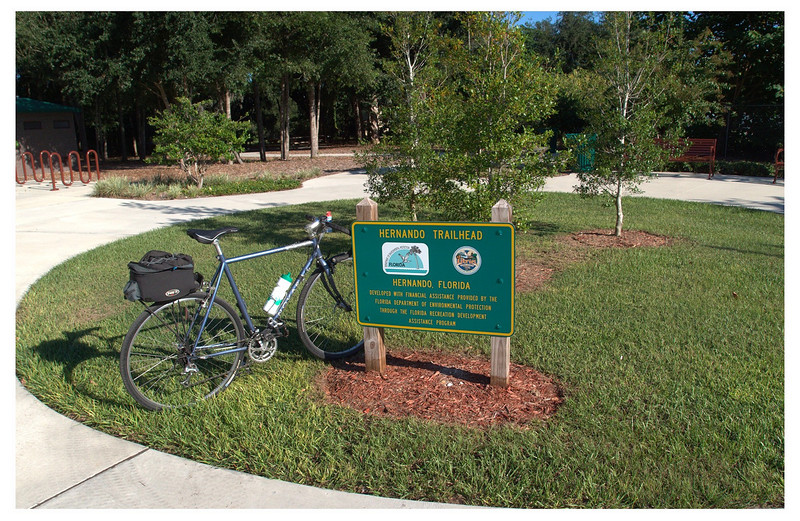 New park at trailhead in Hernando.