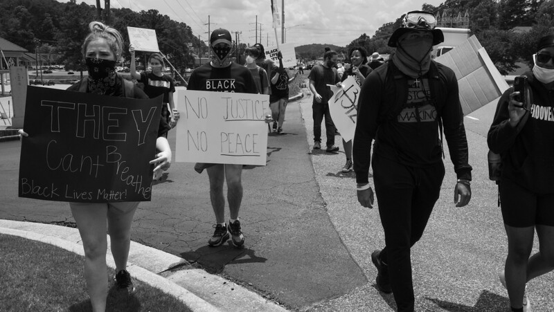 Solidarity Rally Against Injustice for George Floyd - Vestavia Hills AL - 3 June 2020