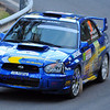 SION, SWITZERLAND - OCTOBER 30: Winiger of the Lugano Racing Team in a Subaru Imprezza in the International Rally of the Valais : October 30, 2011 in Sion Switzerland