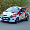 SION, SWITZERLAND - OCTOBER 30:  Mugnier for Lugano Racing Team in a Ford  Fiesta in the International Rally of the Valais : October 30, 2011 in Sion Switzerland