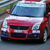 SION, SWITZERLAND - OCTOBER 30: Rubin in a Suzuki Swift in the International Rally of the Valais : October 30, 2011 in Sion Switzerland