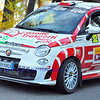 SION, SWITZERLAND - OCTOBER 30: Giovanni Vergnano for Butterfly motorsport in a Fiat Abarth in the International Rally of the Valais : October 30, 2011 in Sion Switzerland