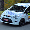 SION, SWITZERLAND - OCTOBER 30: Jerome Geiser for Scuderia Tafyn in a ford Fiesta in the International Rally of the Valais : October 30, 2011 in Sion Switzerland