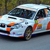 SION, SWITZERLAND - OCTOBER 30: Lourenco of the Ecurie 12 etoiles in a Subaru Imprezza in the International Rally of the Valais : October 30, 2011 in Sion Switzerland