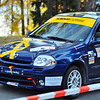 SION, SWITZERLAND - OCTOBER 30: Milani for Lugano Racing Team in a Renault Clio in the International Rally of the Valais : October 30, 2011 in Sion Switzerland