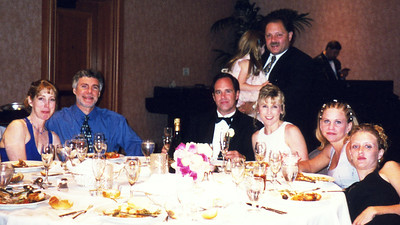 (L-R) Kim and Matt Monaster, Ralph and Robyn, Dori and her friend Nicky, Mark Meyers and Hannah (back row).