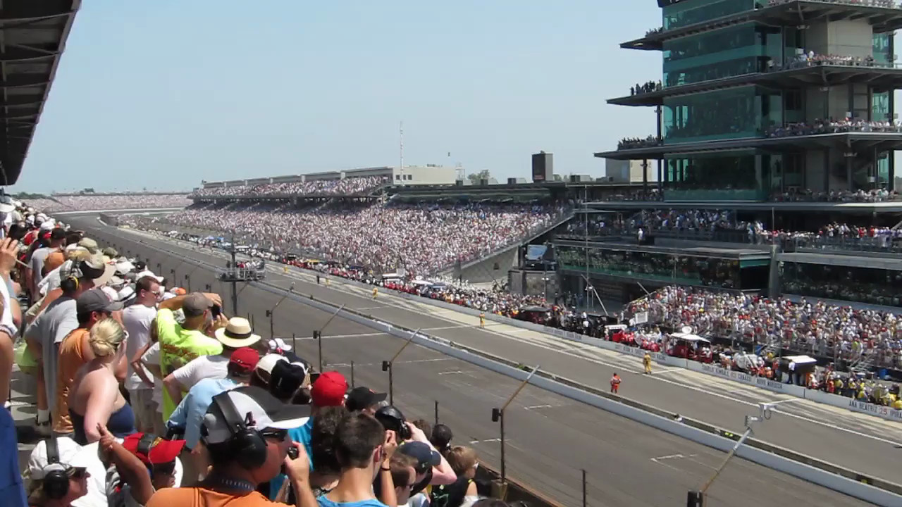 Start of the Indy 500 from the main stretch penthouse.  One of the coolest moments in sports!