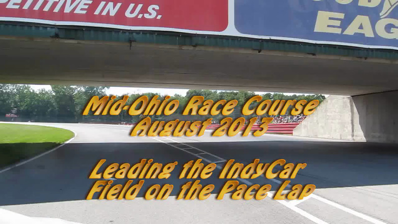 I got a cool opportunity to be in the lead pace car at the Honda IndyCar 200 race at Mid-Ohio.  As a life-long race fan this was a cool experience.