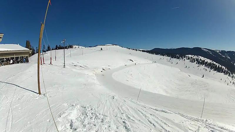 Skiing the back bowls at Vail.
