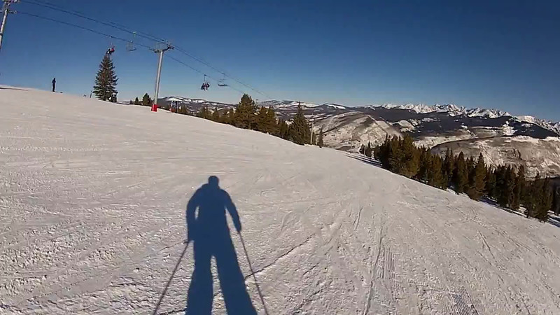 First run of the morning at Vail!
