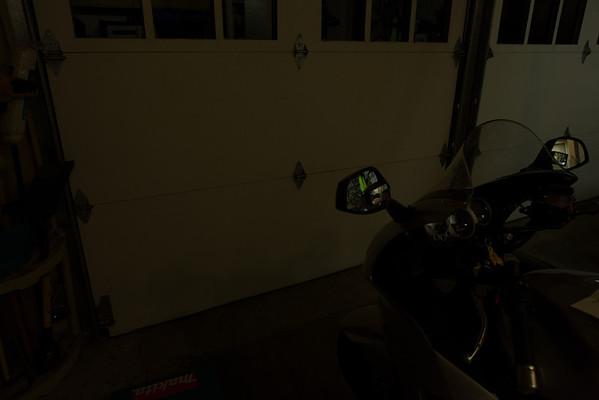 No lights.