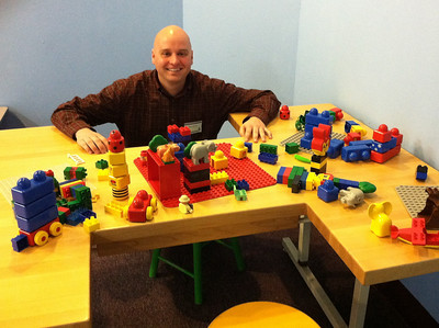 Jason (Holyoke Public Library) at the LEGO table