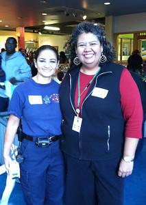 Maria Pelchar (Fire Dept) and MariaLuisa Arroyo  (Peck School)