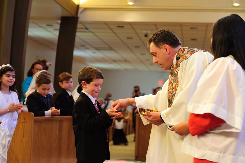 receiving 1st Communion