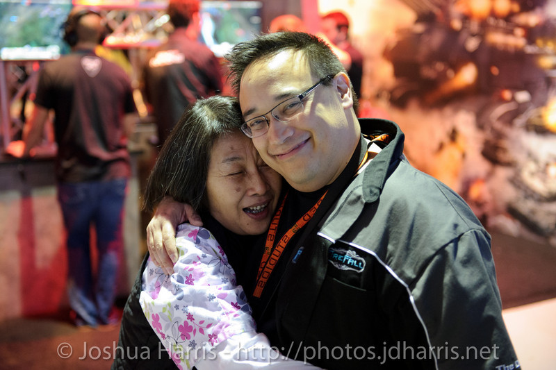 Mark Kern and his mom