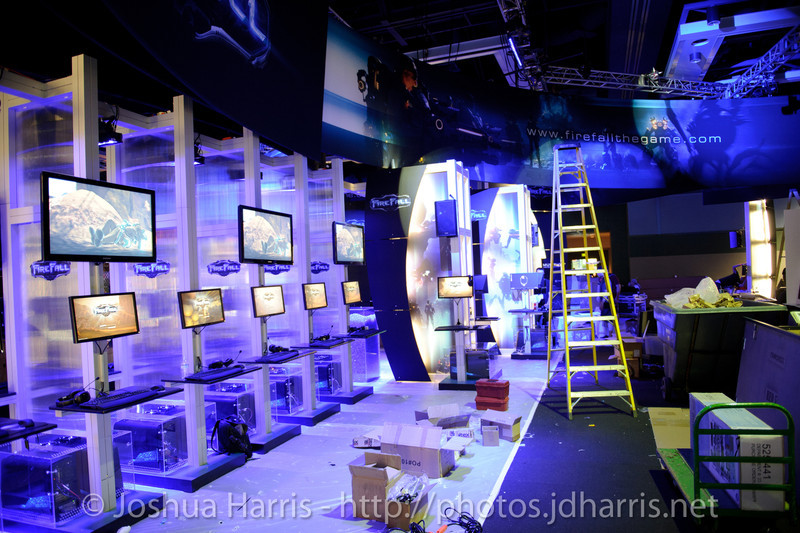 Booth under construction