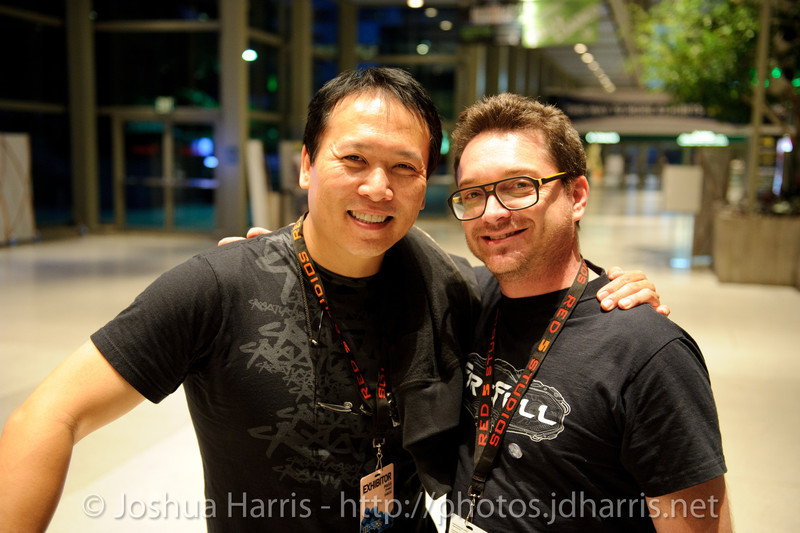 Steve Wang (statue creator) and Marc McCall