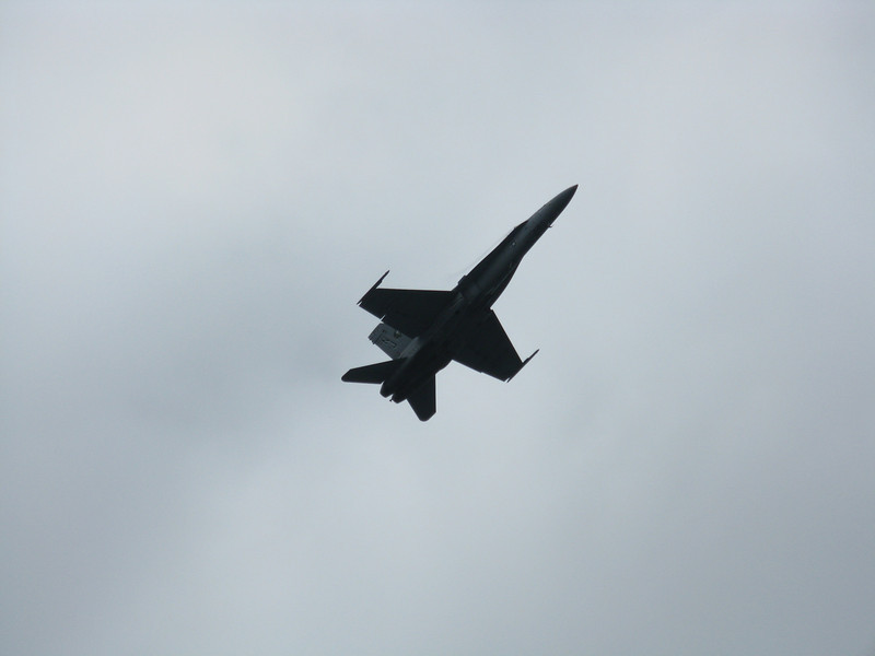 Very high angle of attack slow flight. Very loud!