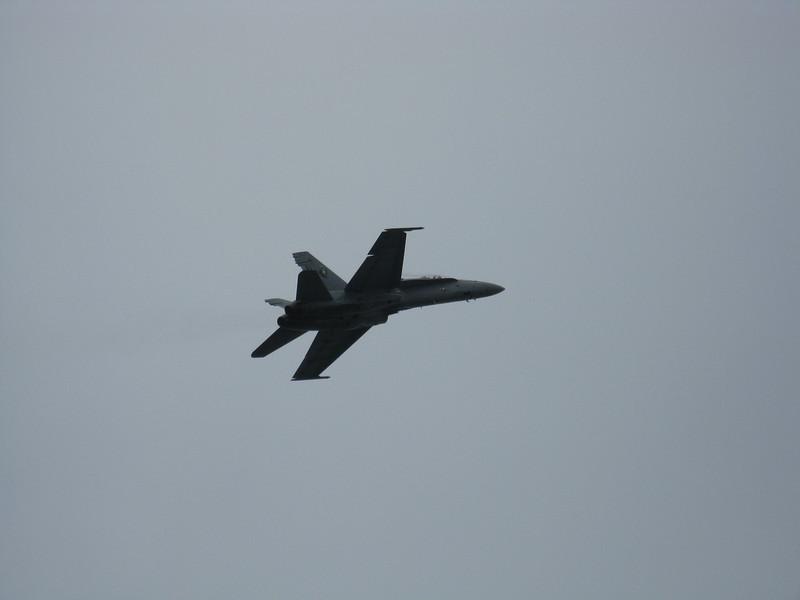 F-16 passes overhead.