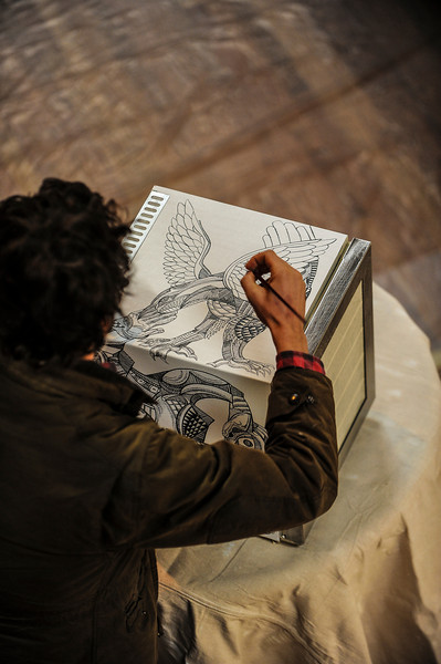 Artist in action for Red Bull Curate in San Francisco, CA at Power Works on the 27th of January 2013
