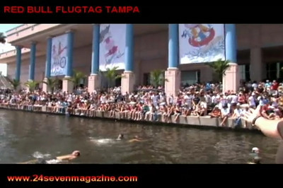 Video of Red Bull Flugtag 2008 Tampa Florida 24/seven magazine/tv Host Nate Johnson & Johnxd reporting from event over 36 crafts.