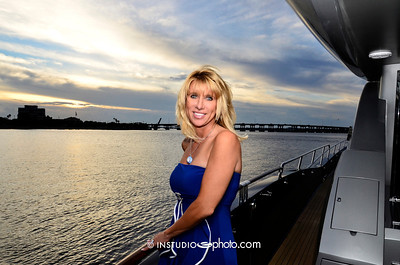 view from superyacht Algorythm at Tarpon Pointe Grill, Bradenton FL.