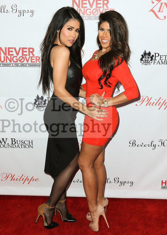Audrey Scott (L) and Ashley Scott (R) attend the Zing Vodka and